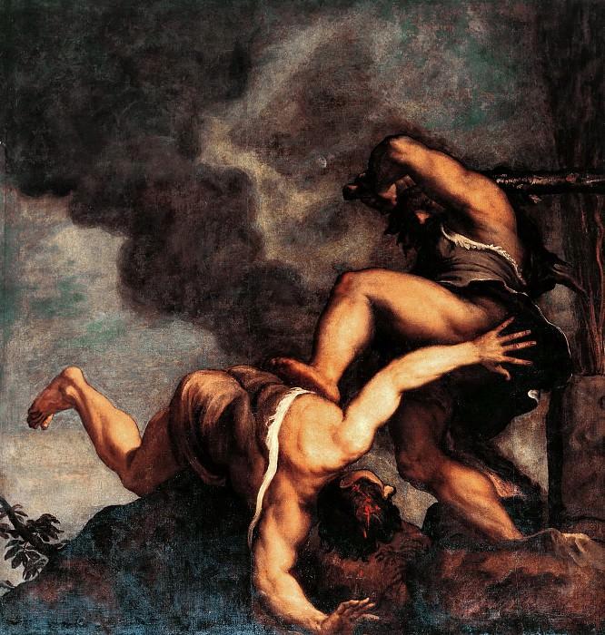 Cain and Abel. Titian (Tiziano Vecellio)