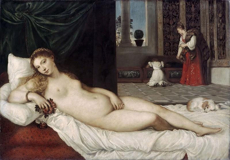 Venus of Urbino. Titian (Tiziano Vecellio)