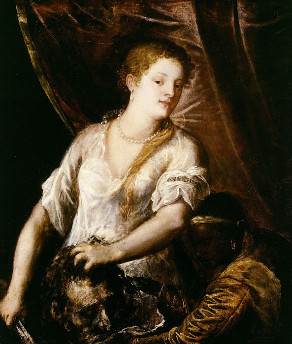 Judith with the Head of Holofernes. Titian (Tiziano Vecellio)