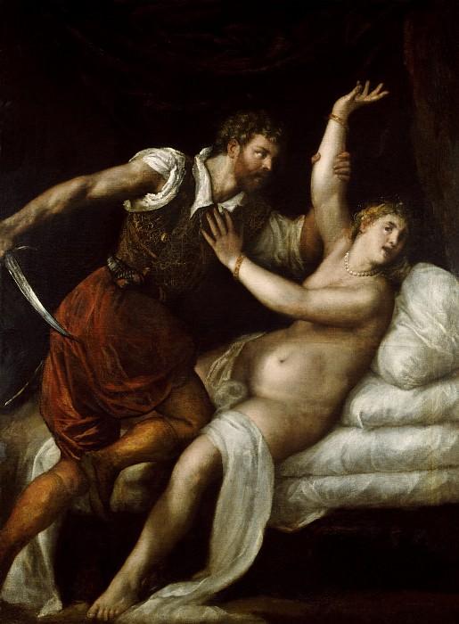 Tarquinius and Lucretia. Titian (Tiziano Vecellio)