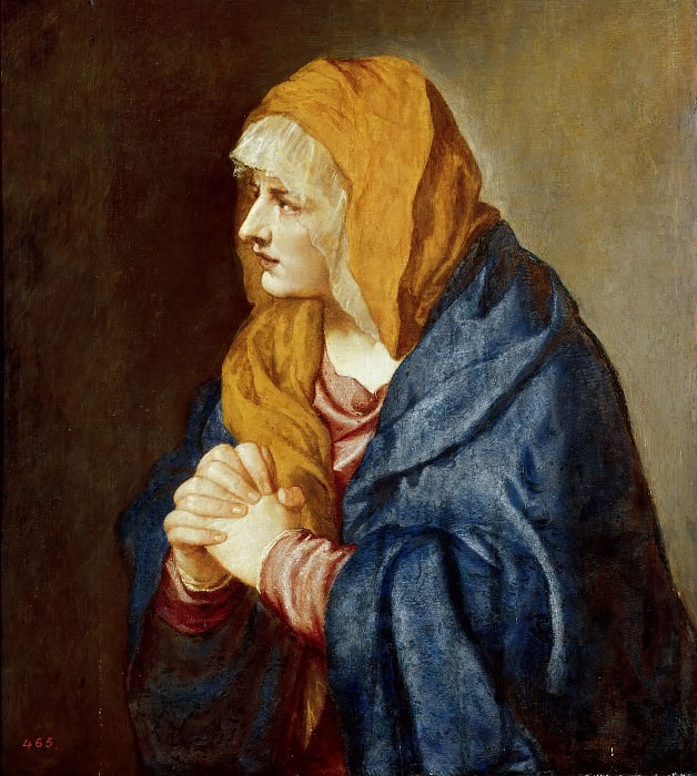 Скорбящая Богородица. Тициан (Тициано Вечеллио)