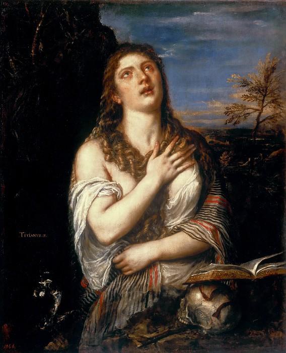 Repentant Mary Magdalene. Titian (Tiziano Vecellio)