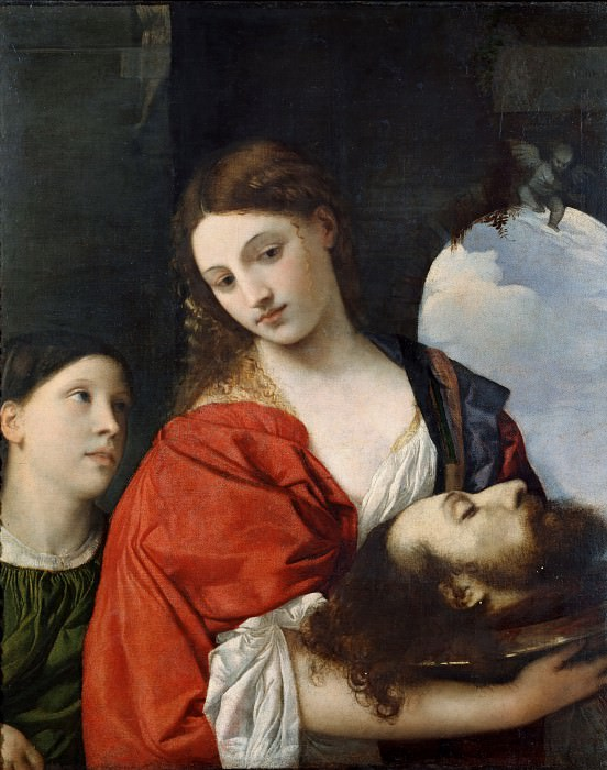 Salome with the Head of John the Baptist. Titian (Tiziano Vecellio)