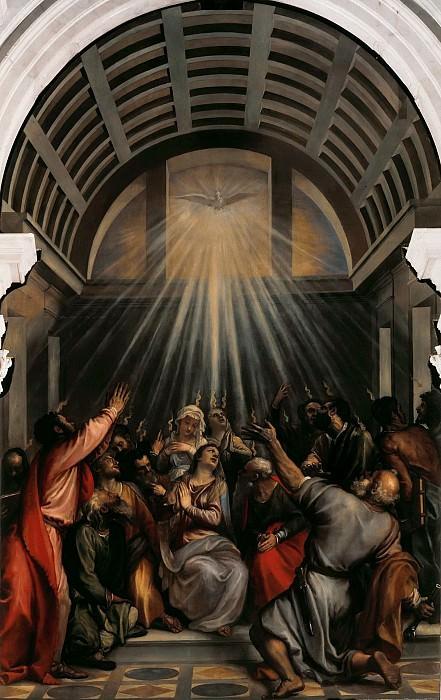 Effusion of the Holy Spirit. Titian (Tiziano Vecellio)