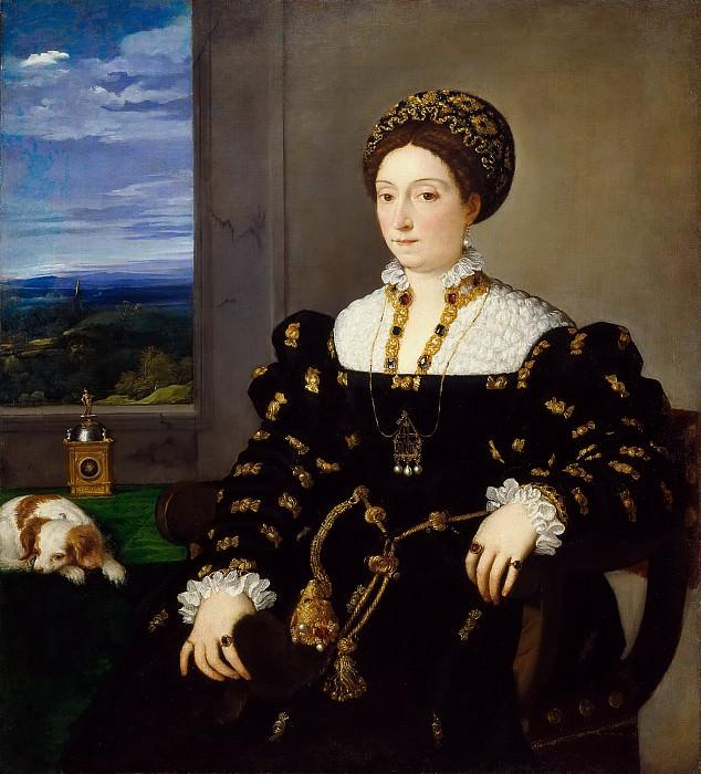 Portrait of Eleonora Gonzaga della Rovere. Titian (Tiziano Vecellio)
