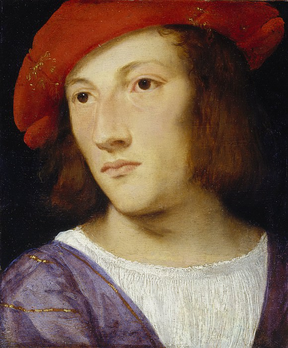 Portrait of a young man. Titian (Tiziano Vecellio)