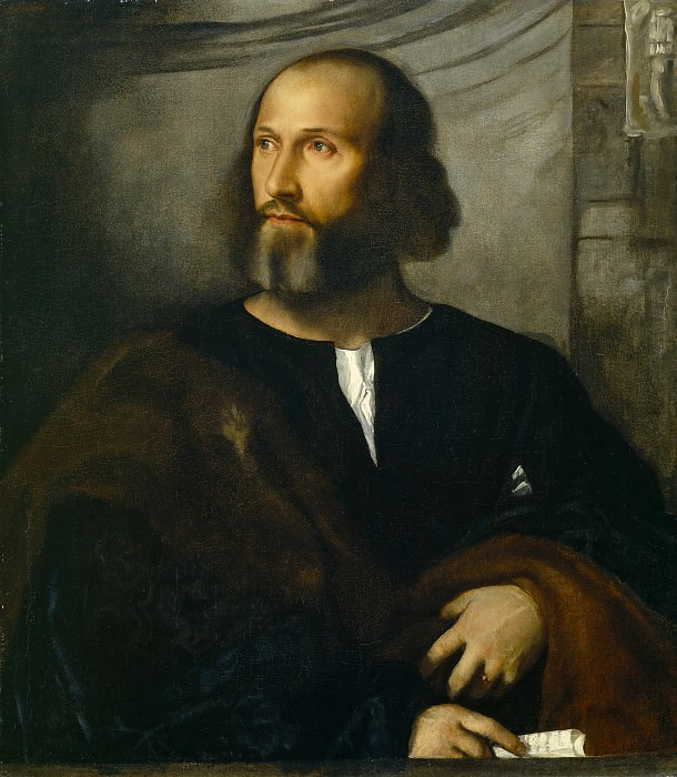 Portrait of a Bearded Man. Titian (Tiziano Vecellio)