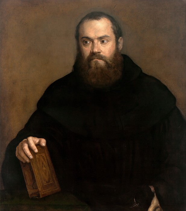 A monk with a book. Titian (Tiziano Vecellio)