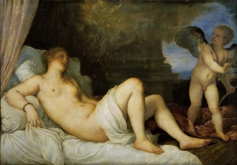Danae. Titian (Tiziano Vecellio)