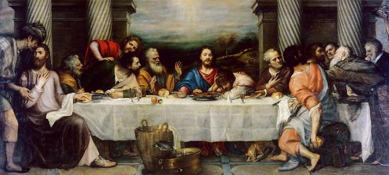 Last Supper (Titian and his workshop). Titian (Tiziano Vecellio)