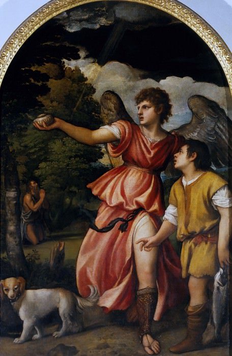 Tobias and the Angel. Titian (Tiziano Vecellio)