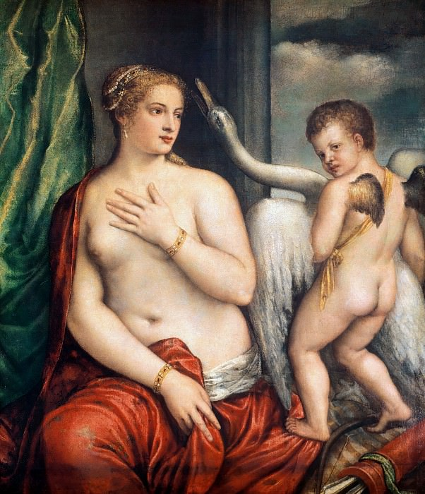 Leda and the Swan. Titian (Tiziano Vecellio)