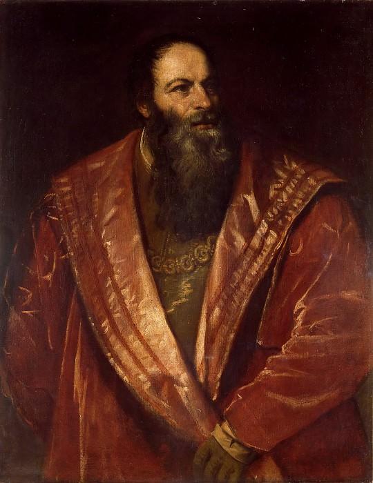 Portrait of Pietro Aretino. Titian (Tiziano Vecellio)
