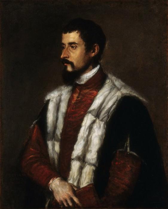 Portrait of a Gentleman. Titian (Tiziano Vecellio)