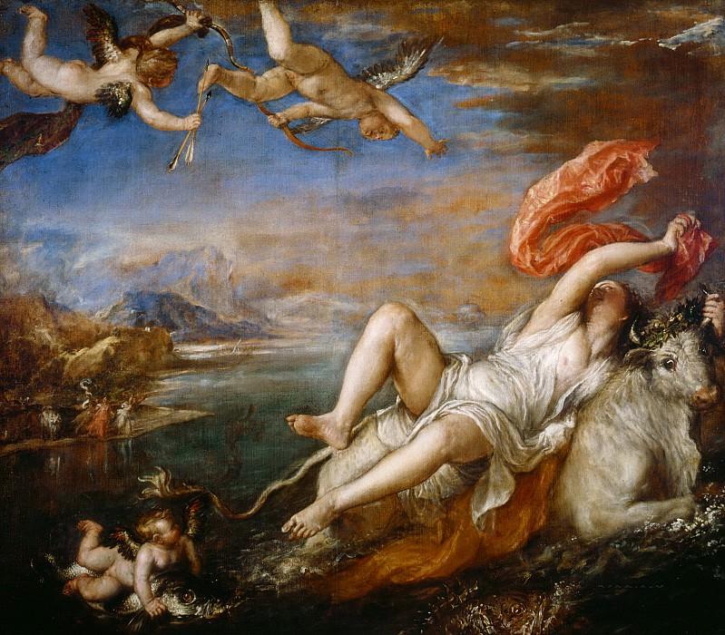 Rape of Europa. Titian (Tiziano Vecellio)