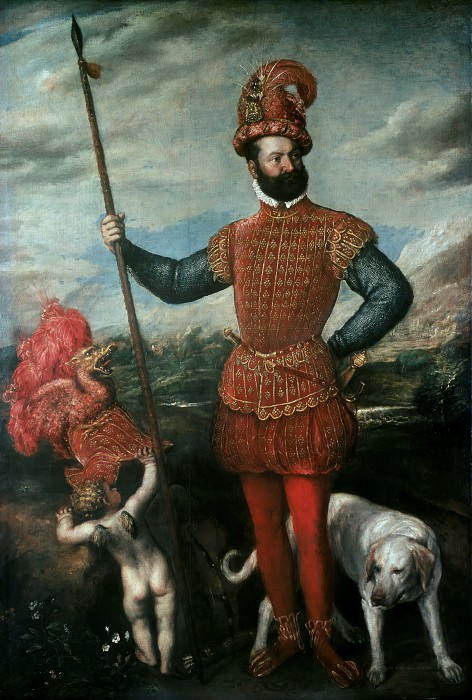 Portrait of Giovan Francesco Acquaviva, Duke of Atri. Titian (Tiziano Vecellio)