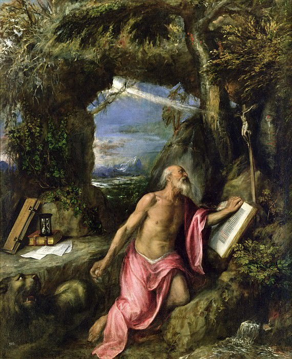 Saint Jerome. Titian (Tiziano Vecellio)