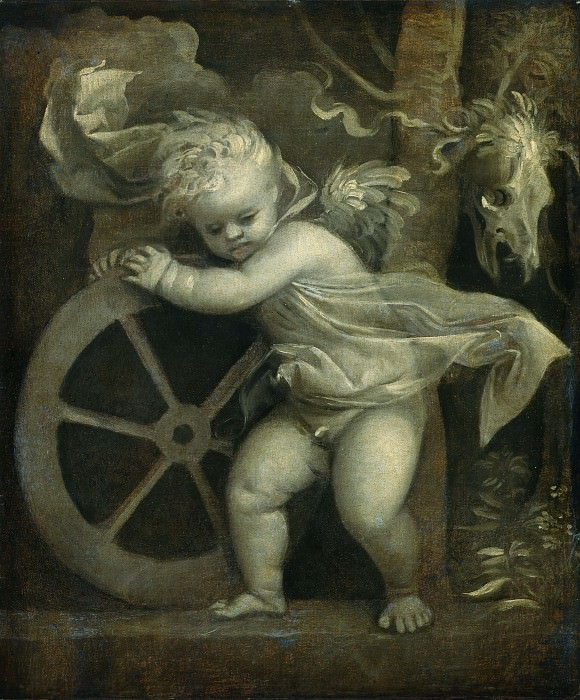 Cupid with the Wheel of Fortune. Titian (Tiziano Vecellio)