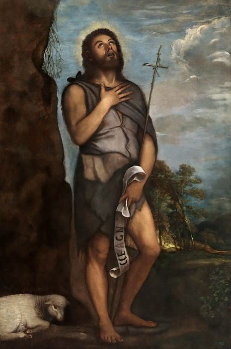 Saint John the Baptist. Titian (Tiziano Vecellio)