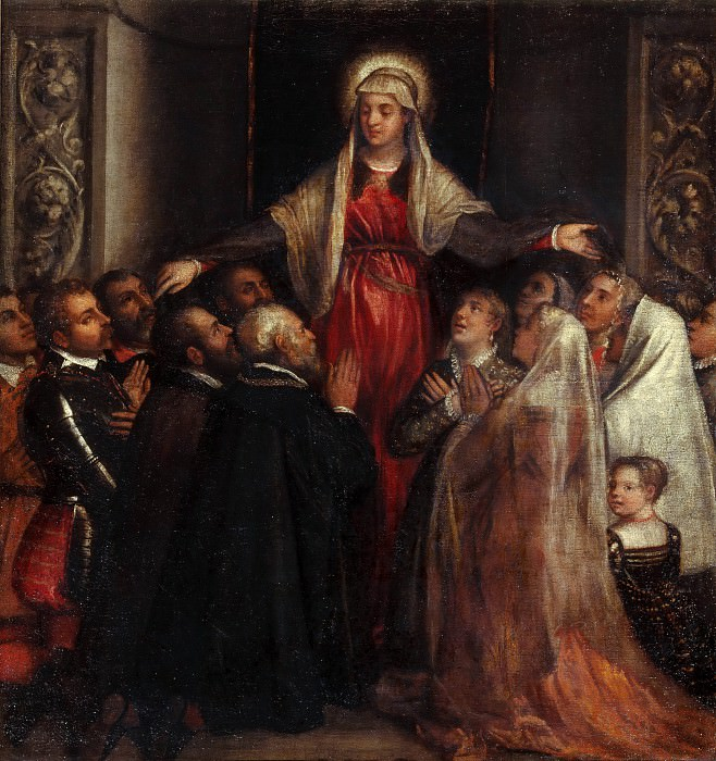 Madonna of Mercy. Titian (Tiziano Vecellio)