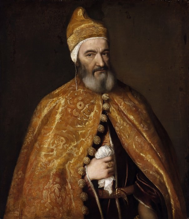 Portrait of Marcantonio Trevisani, Doge of Venice. Titian (Tiziano Vecellio)