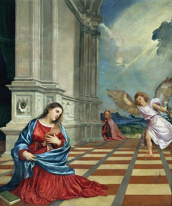 Annunciation. Titian (Tiziano Vecellio)