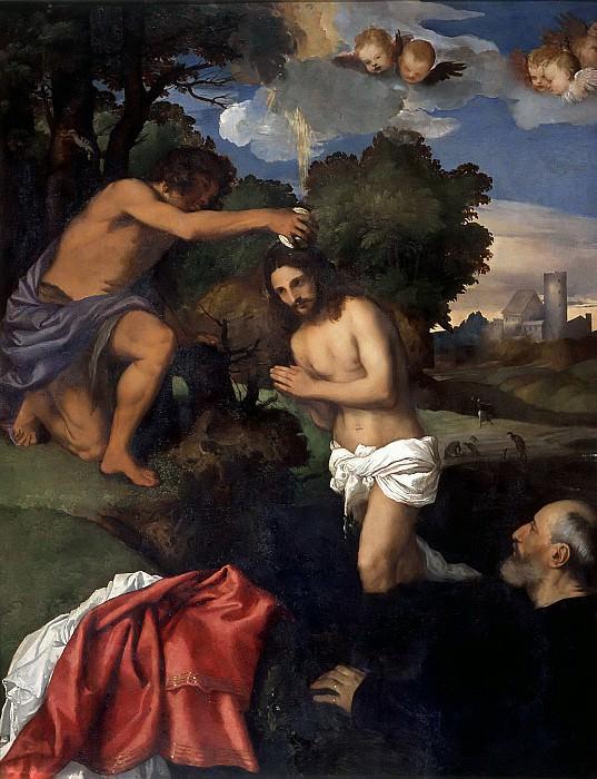 Baptism of Christ. Titian (Tiziano Vecellio)
