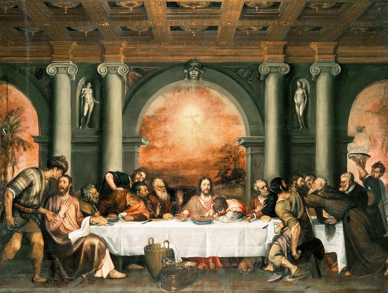 The Last Supper. Titian (Tiziano Vecellio)