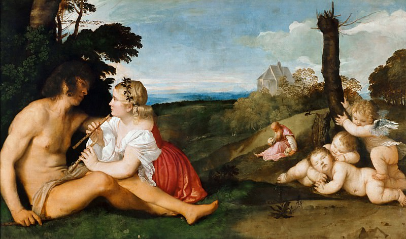 Allegory of the three ages of man. Titian (Tiziano Vecellio)