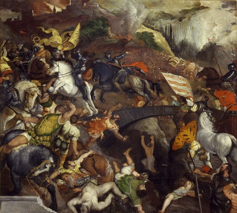 Battle of Cadore (copy). Titian (Tiziano Vecellio)