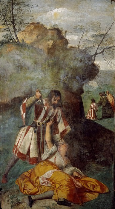 The Miracle of the Jealous Husband. Titian (Tiziano Vecellio)