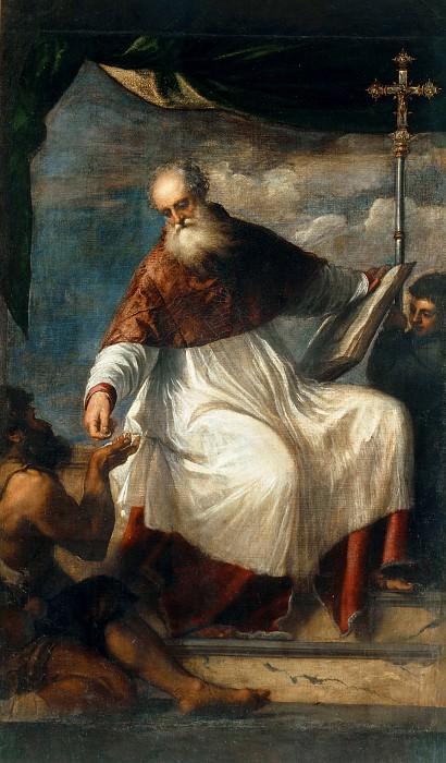 Saint John the Alms-Giver. Titian (Tiziano Vecellio)
