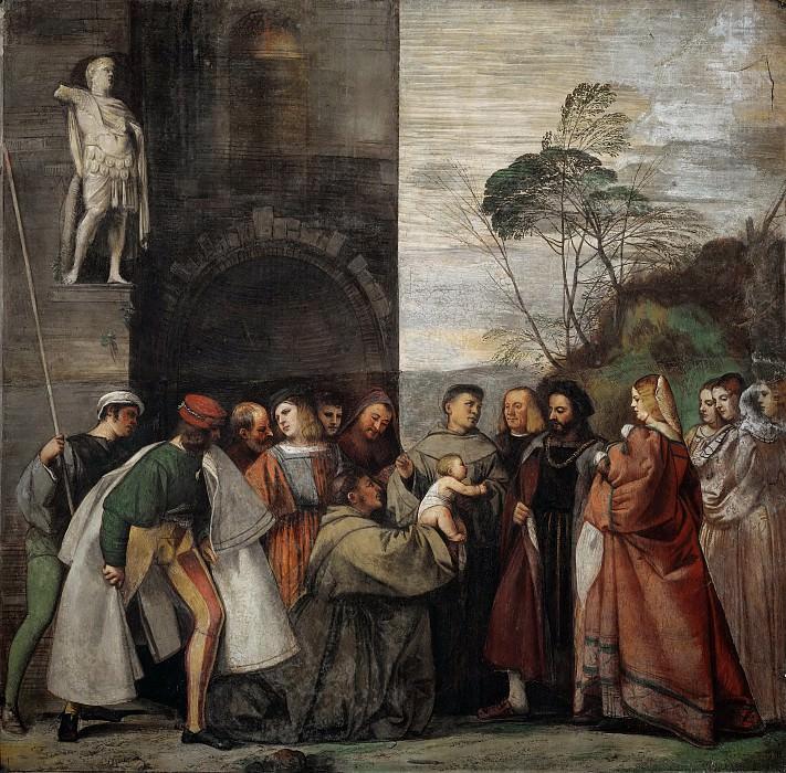 The Miracle of the Newborn Child. Titian (Tiziano Vecellio)