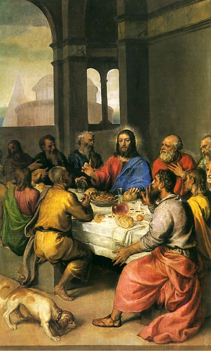 The Last Supper. Titian (Tiziano Vecellio)