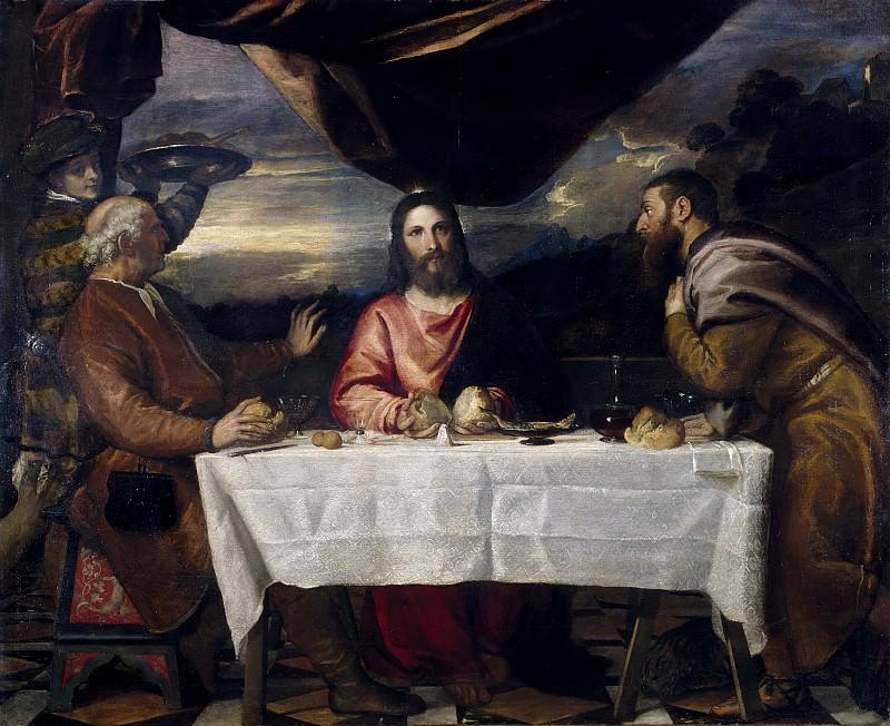 Ужин в Эммаусе (Тициан и мастерская). Тициан (Тициано Вечеллио)