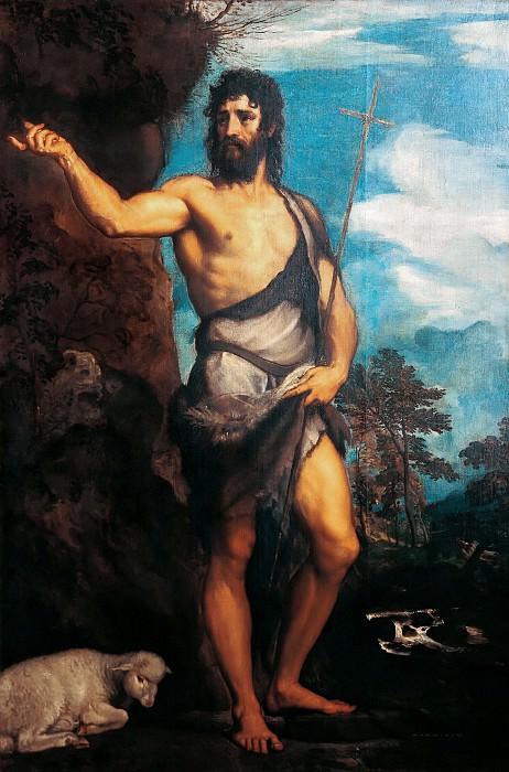 St John the Baptist. Titian (Tiziano Vecellio)