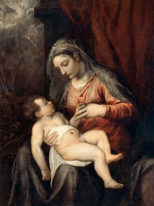 Mary with the Child. Titian (Tiziano Vecellio)