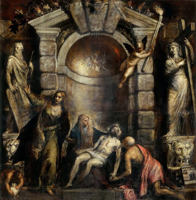 Pieta (completed by Palma il Giovane (Jacopo Negretti)). Titian (Tiziano Vecellio)