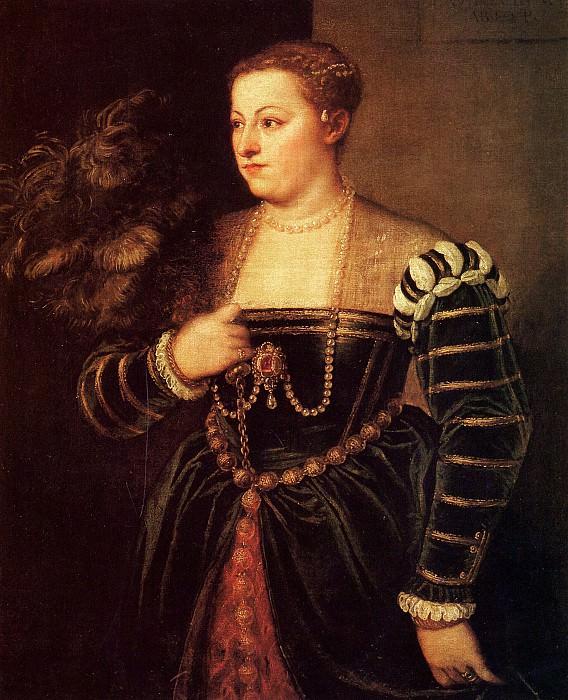 Portrait of daughter Lavinia. Titian (Tiziano Vecellio)