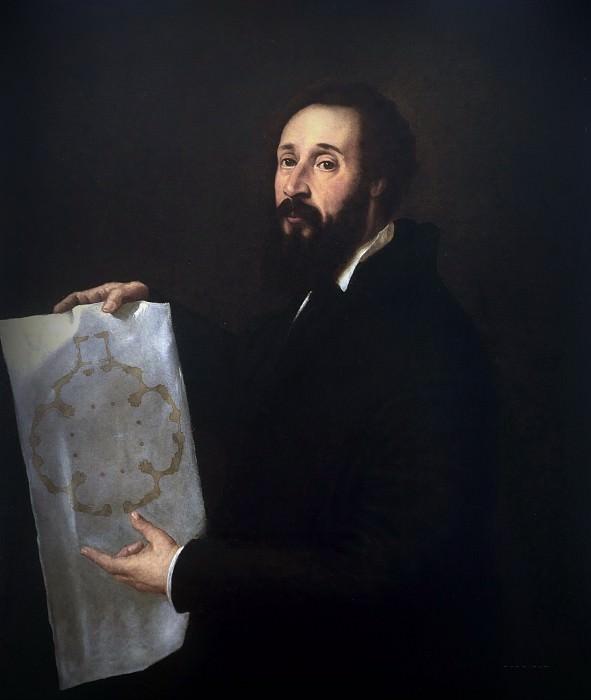 Portrait of painter Giulio Romano. Titian (Tiziano Vecellio)
