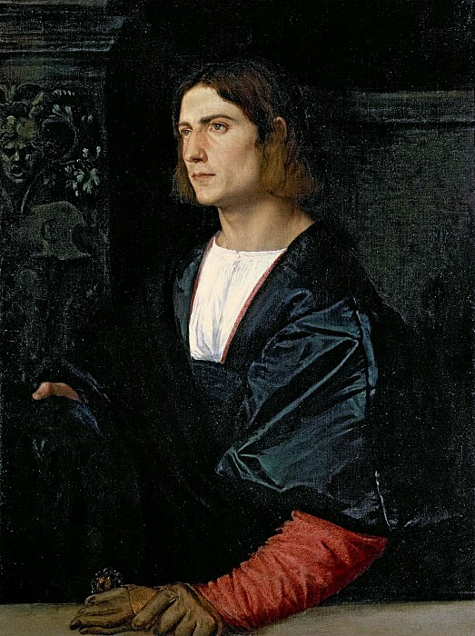 Young Man with Gloves. Titian (Tiziano Vecellio)