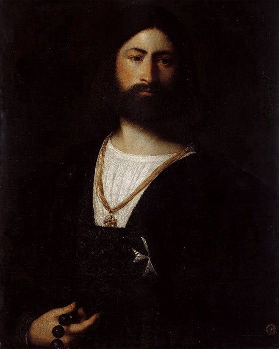 Portrait of a Knight of Malta. Titian (Tiziano Vecellio)