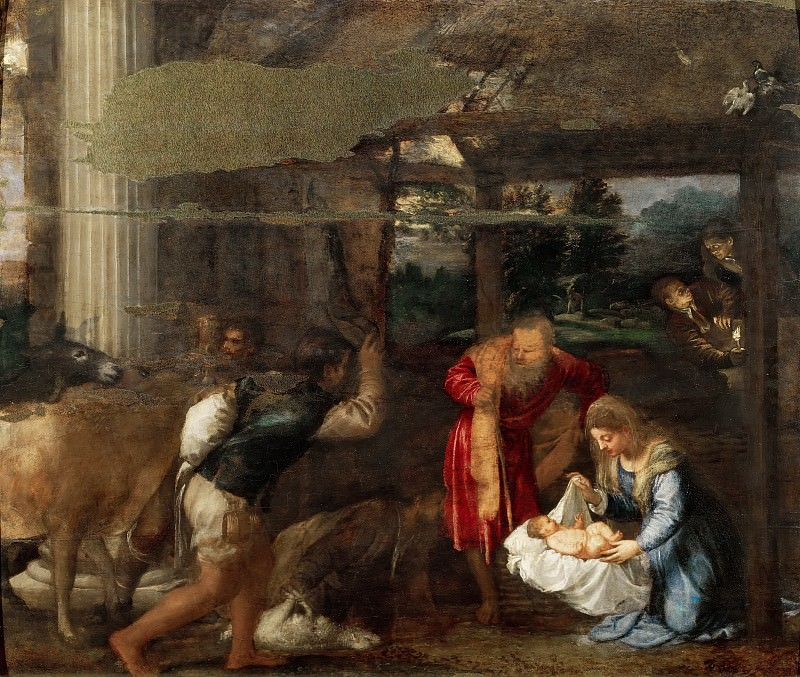 Nativity. Titian (Tiziano Vecellio)