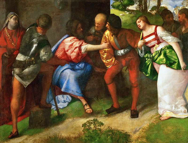 Susanna and the Prophet Daniel. Titian (Tiziano Vecellio)