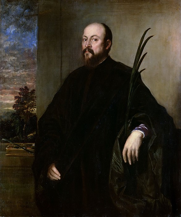 Portrait of a Man with a Palm. Titian (Tiziano Vecellio)