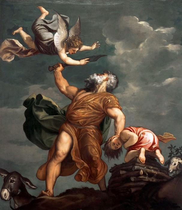 Abraham sacrifices Isaac. Titian (Tiziano Vecellio)