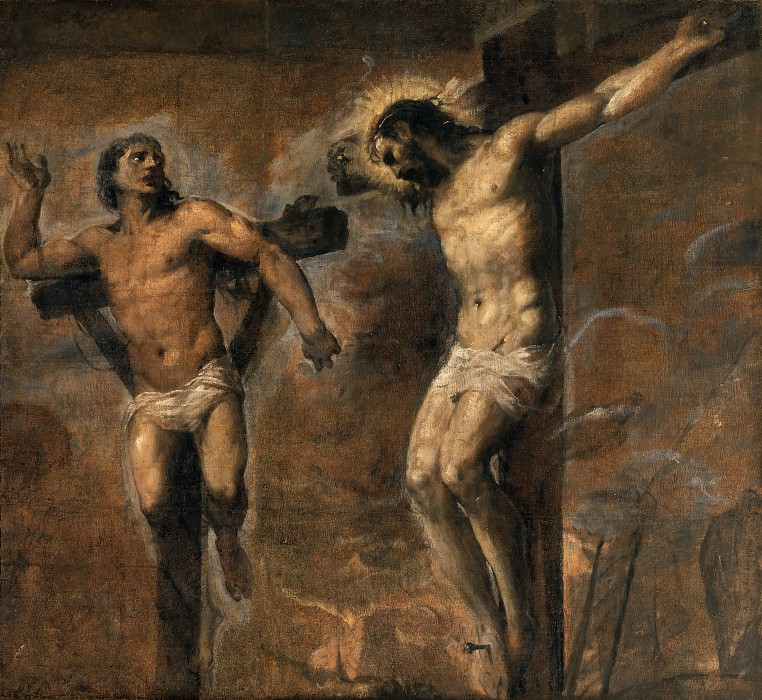 Jesus Christ and the Good Thief. Titian (Tiziano Vecellio)