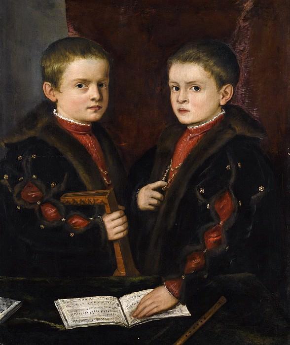 Портрет двух мальчиков (возможно членов семьи Пезаро). Тициан (Тициано Вечеллио)