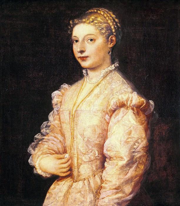 Portrait of young woman (Lavinia Vecellio). Titian (Tiziano Vecellio)
