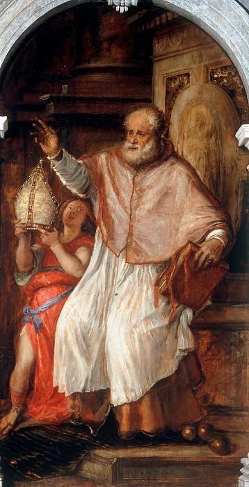 Saint Nicholas of Bari. Titian (Tiziano Vecellio)
